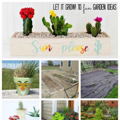 10 Fun Garden Ideas and Block Party