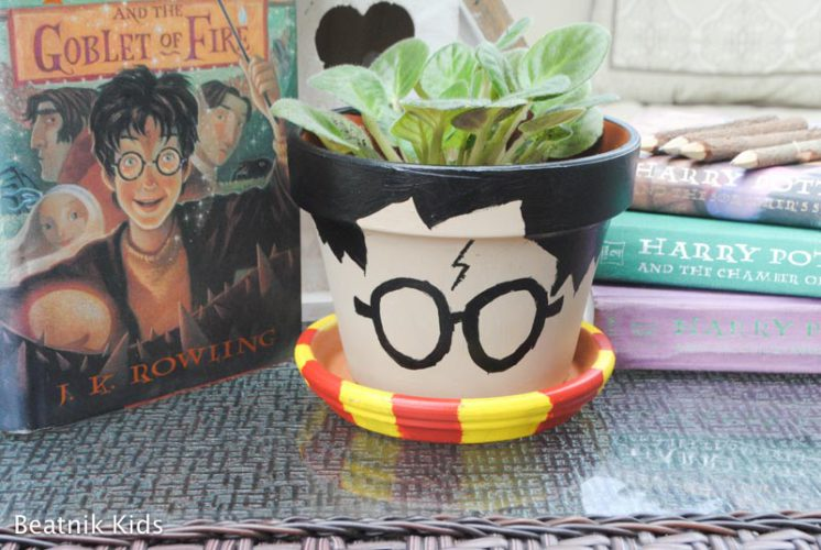 Quick and Easy DIY Harry Potter Flower Pot