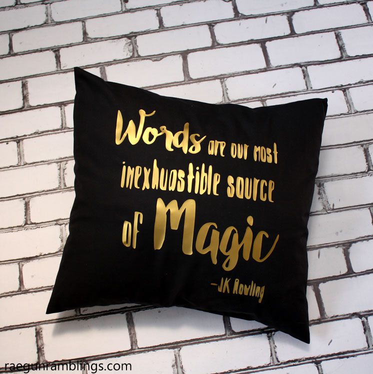 words are our most inexhaustible source of magic pillow tutorial