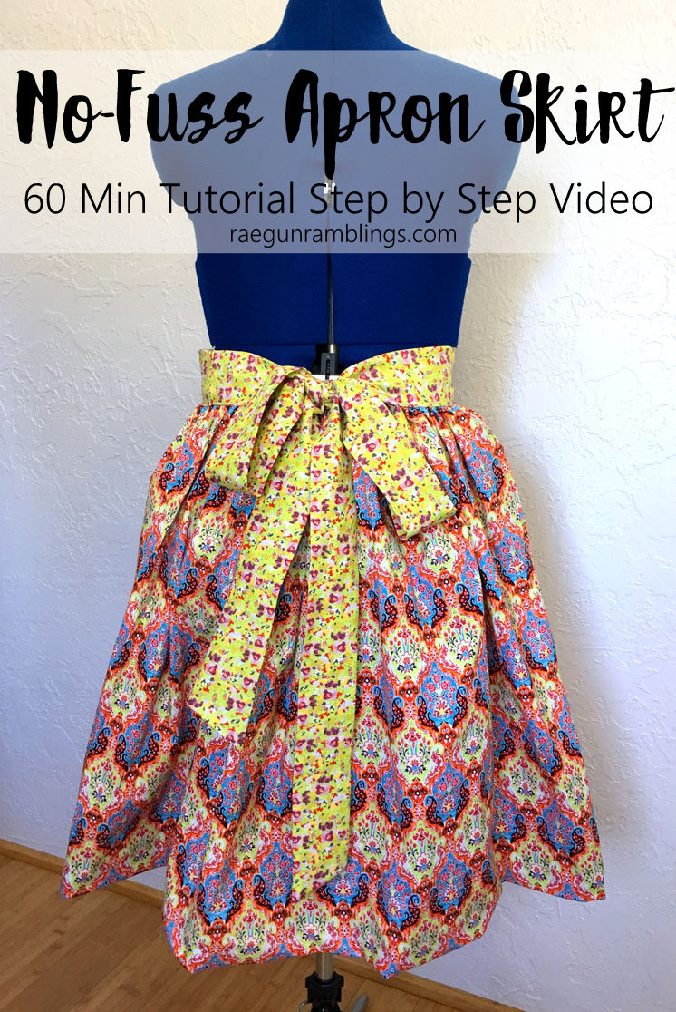 How to make an apron skirt without a zipper. Sewing tutorial 60 minutes with full step by step video instructions.