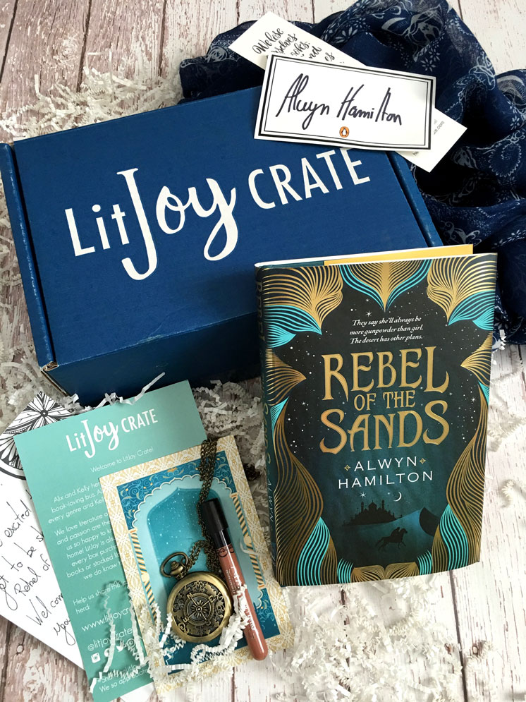 Lit Joy Crate Monthly bookish subscription Box. Young Adult books