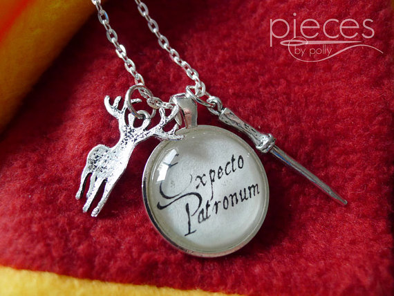 Custom Expecto Patronum necklace with lots of animal charms to pick from.
