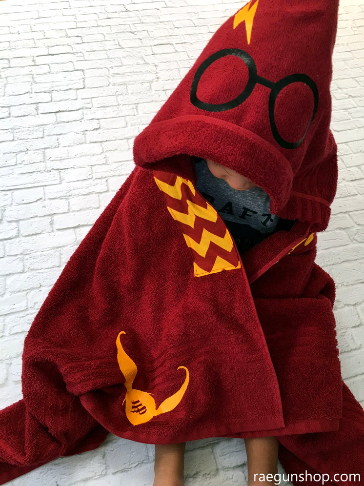 Harry Potter Towel. Quidditch robe inspired towel for kids and adults