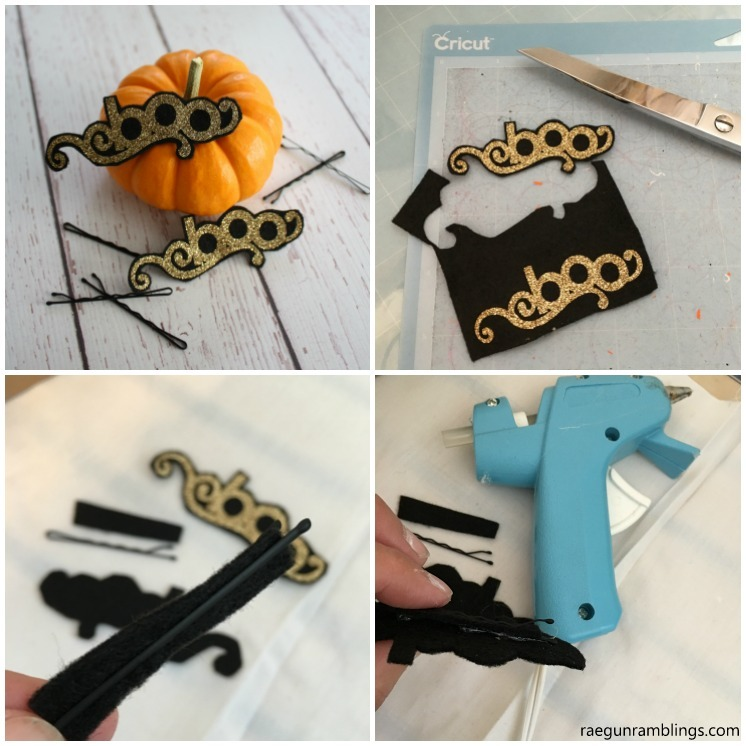 How to make DIY felt hair clips. Easy tutorial to adapt for any occassion