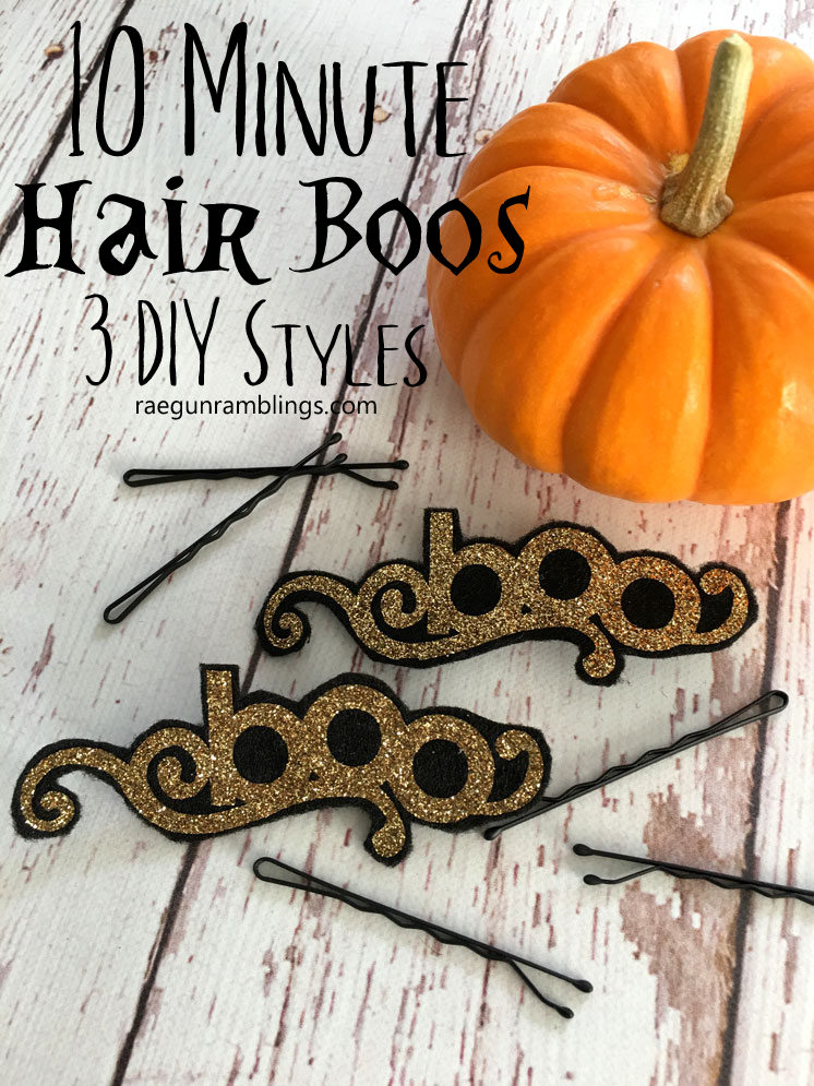3 cute and easy DIY hair accessories tutorials for Halloween