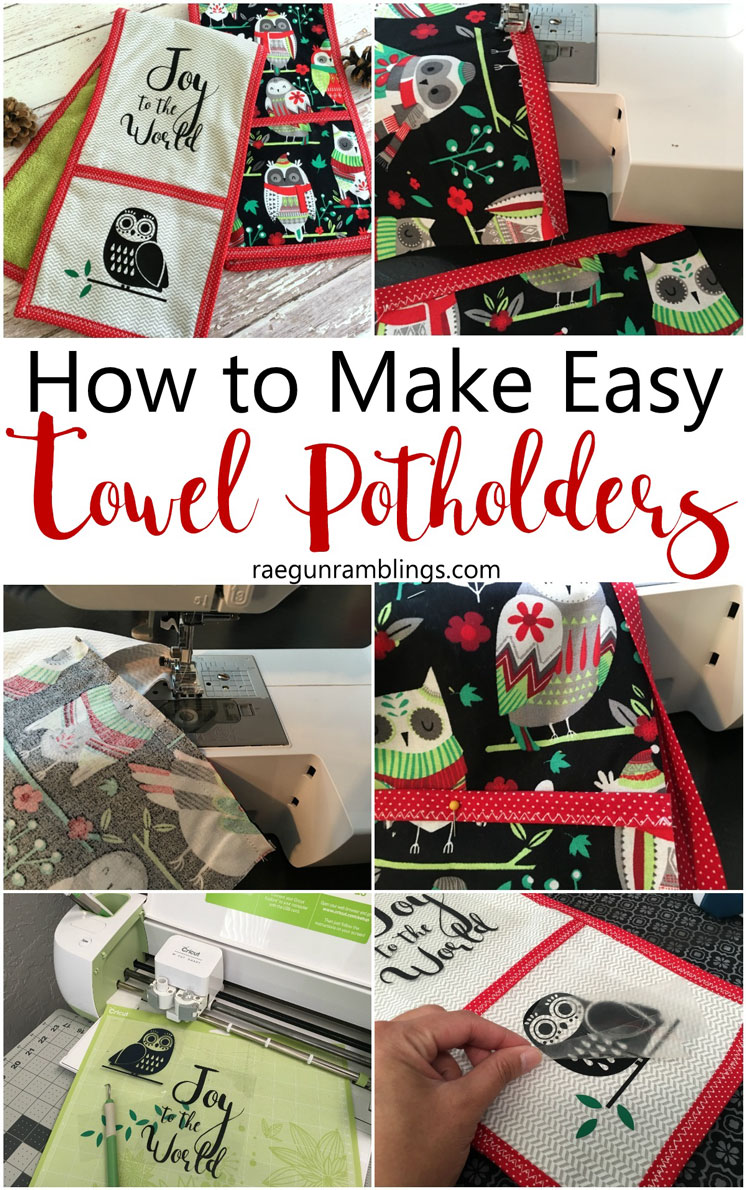 Favorite Christmas Hostess gift this double potholder kitchen towel is awesome. Easy sewing tutorial