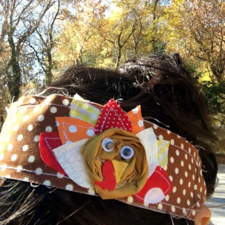 Thanksgiving headband. Easy turkey sewing tutorial