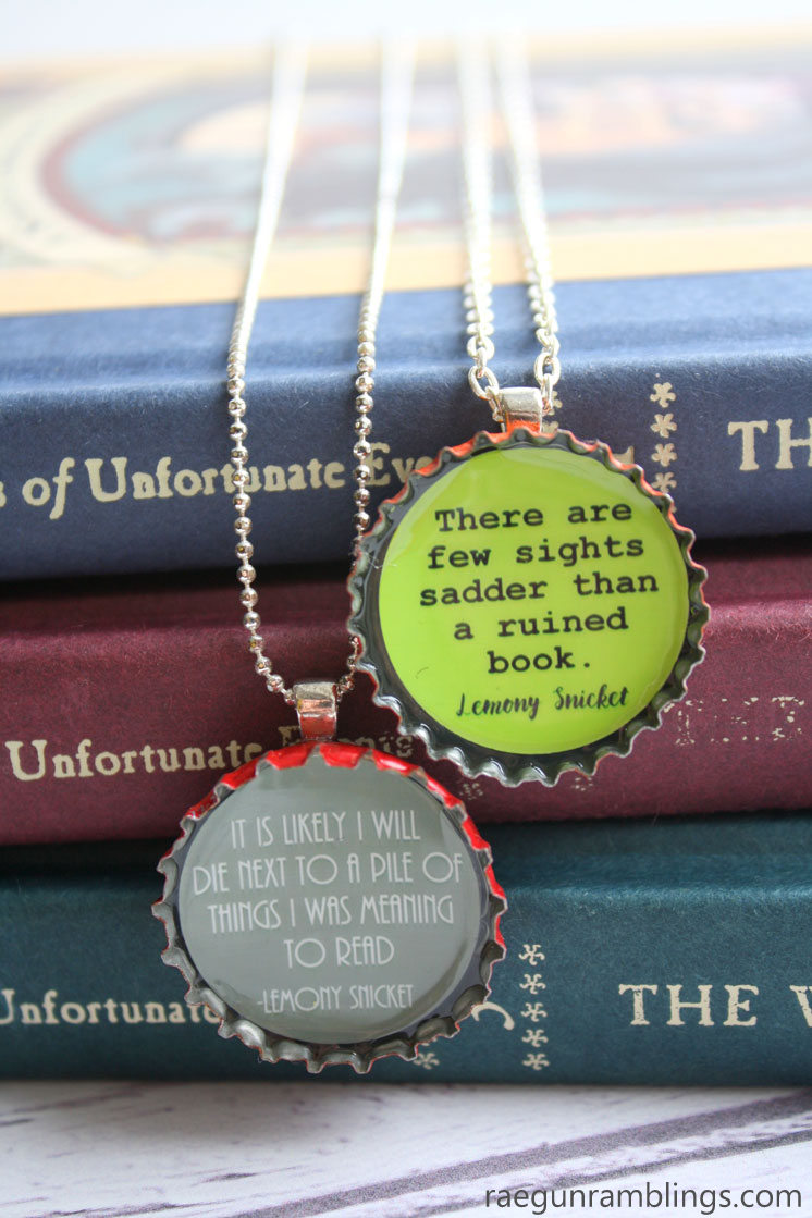 lemony snicket necklace DIY crafting tutorial