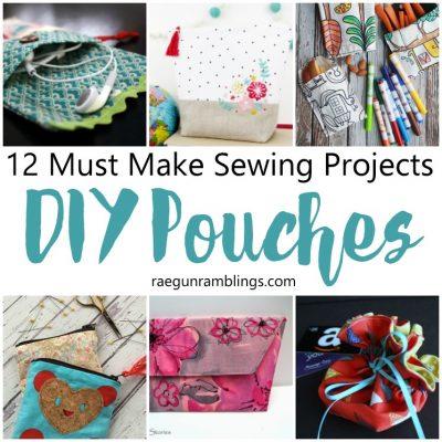Must Make DIY Pouch Tutorials