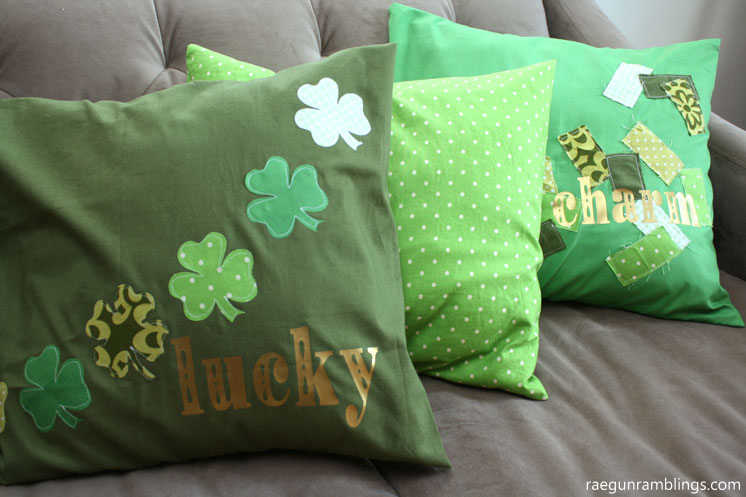 easy diy sewing tutorial for shamrock pillows