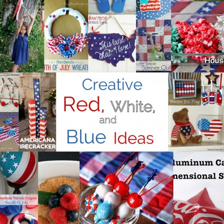 fabulous collection of DIY red white blue patriotic crafts recipes