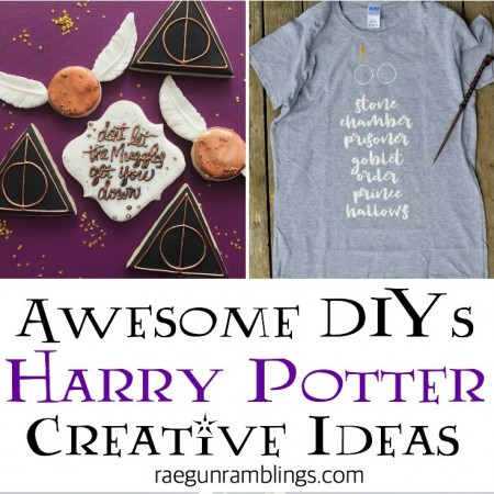 Amazing DIY goldne snitch cookies and DIY harry potter book list SVG