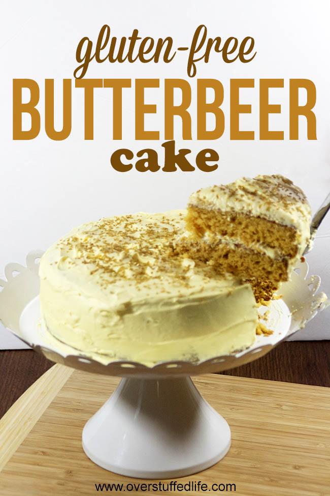gluten free butterbeer cake