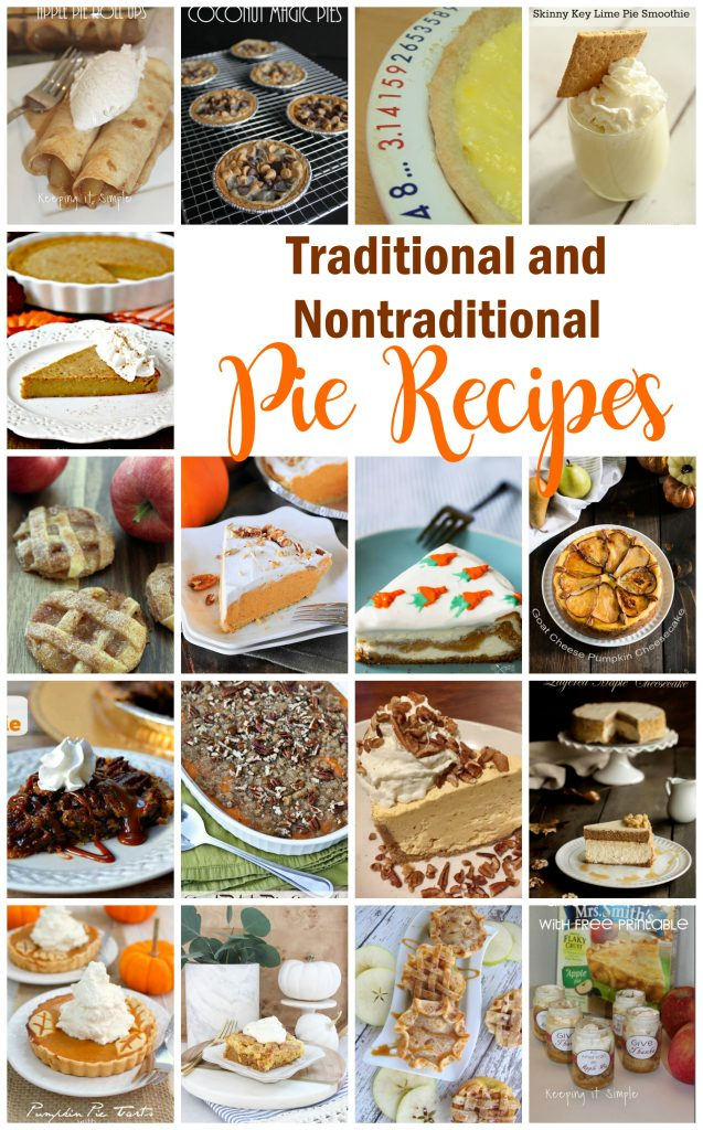 Traditional-and-Nontraditional-Pie-Recipes-great for thanksgiving desserts