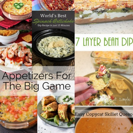 Must make Appetizers and Super-Bowl-Recipes