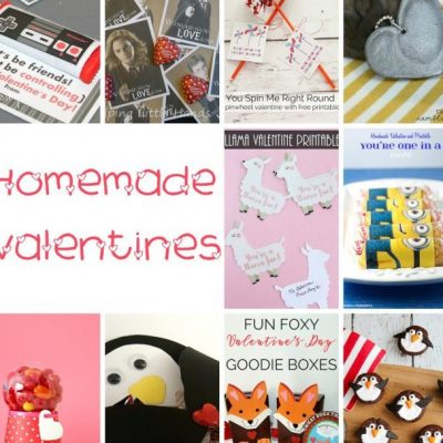 Handmade Valentines and Block Party