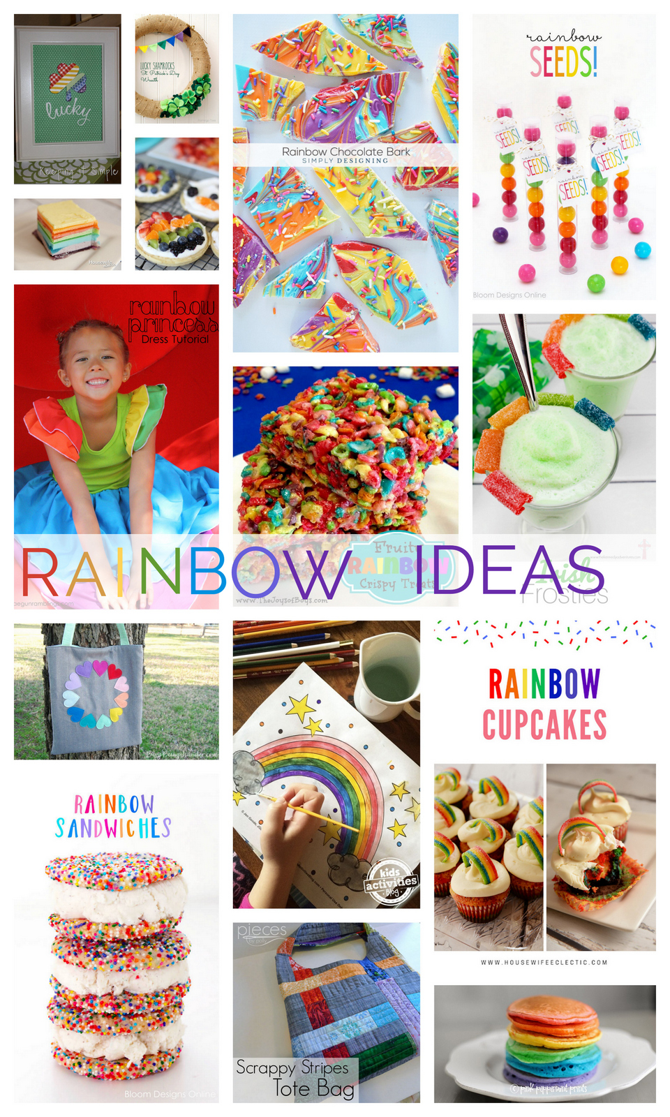 Rainbow awesome DIY tutorials crafts and rainbow food recipes