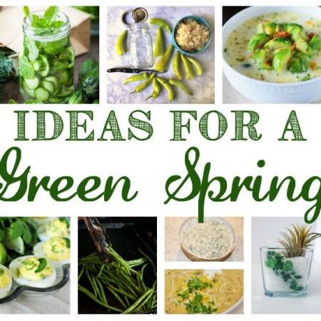 DIY green spring recipes and crafts