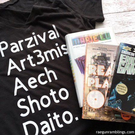 diy ready player one characters shirt and must read books for fans