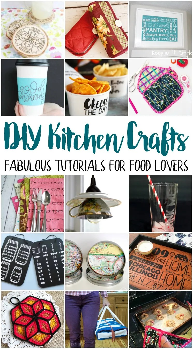 DIY kitchen crafts. Great tutorials for kitchen decor and projects.