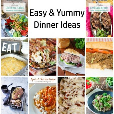 Easy Yummy Dinner Ideas and Block Party