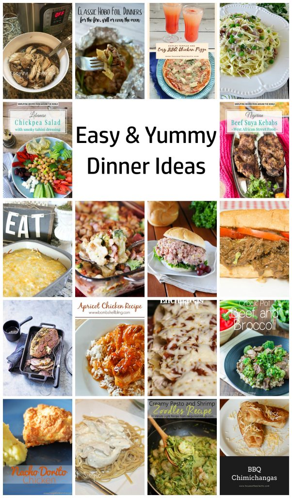 Easy and yummy dinner recipes and ideas great for weeknight family cooking