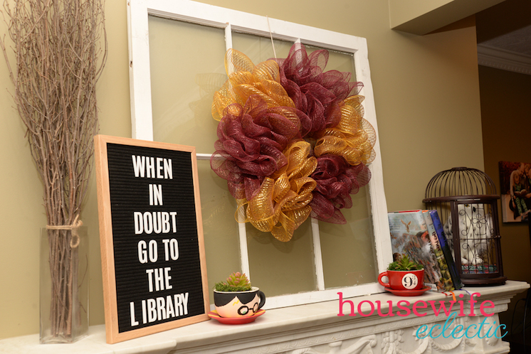 DIY Harry-Potter-Mantel for back to school
