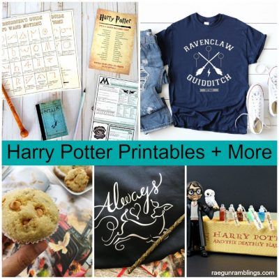 Harry Potter Shirts, Wand Printable and Butterbeer Muffins
