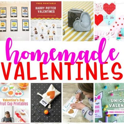 Homemade Valentines and Block Party
