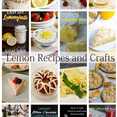 Delicious Lemon Recipes Crafts and Block Party