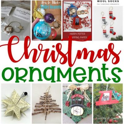 Christmas Ornaments to Make and Block Party