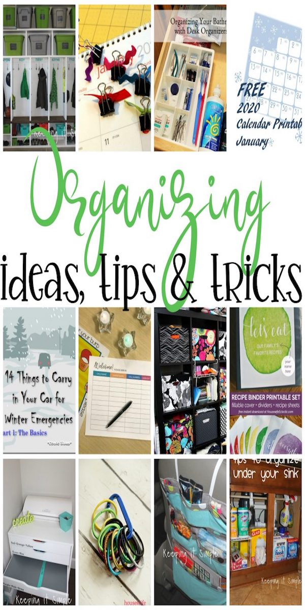 collage of organizing ideas