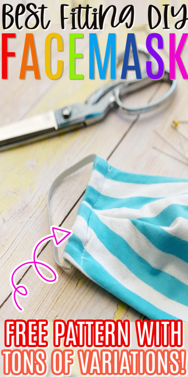 cloth face mask and scissors