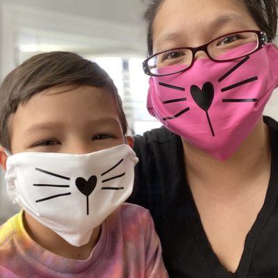 Cat Face Mask Tutorial Pattern