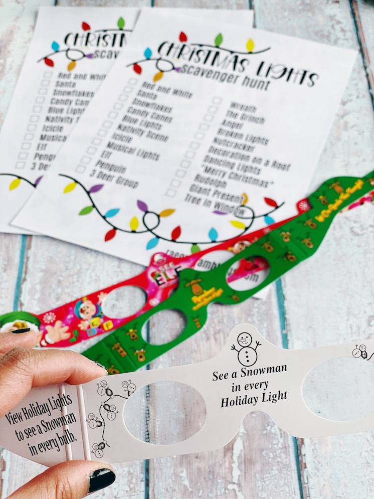 One of our favorite family traditions is doing a driving Christmas light scavenger hunt. This printable is one of our favorites yet! Making some gifts to send to friends.
