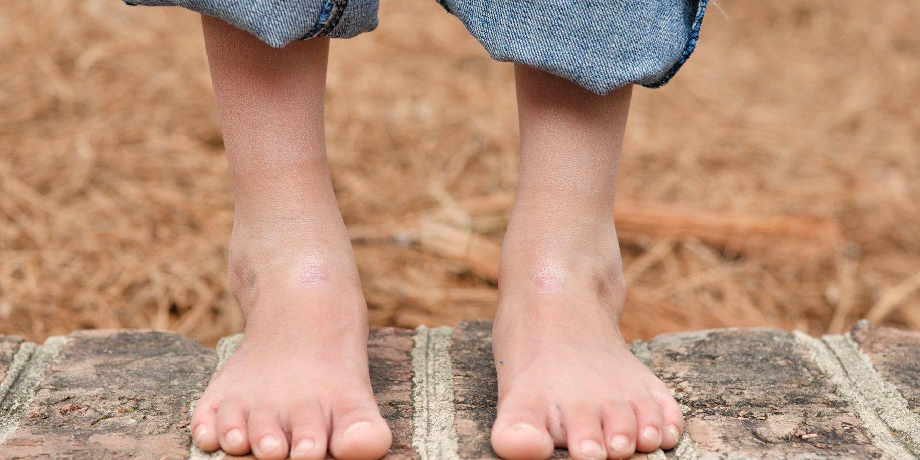 being barefoot boosts brain