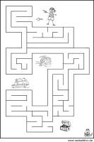 Labyrinth Bilderrätsel zum gratis Ausdrucken   Malvorlagen