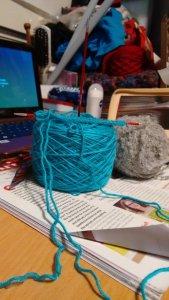 Cyan Sock Wool