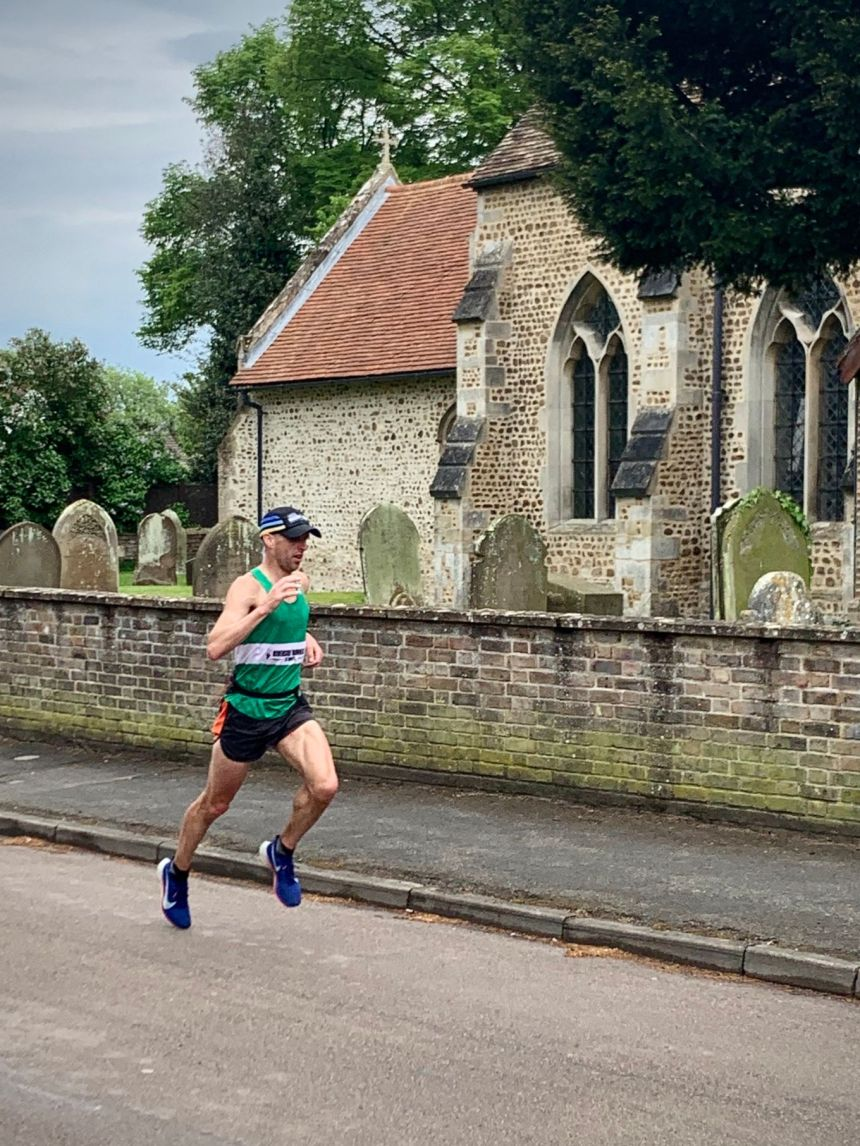 Flight Sergeant Michael Taylor running in the Wings for Life long-distance race