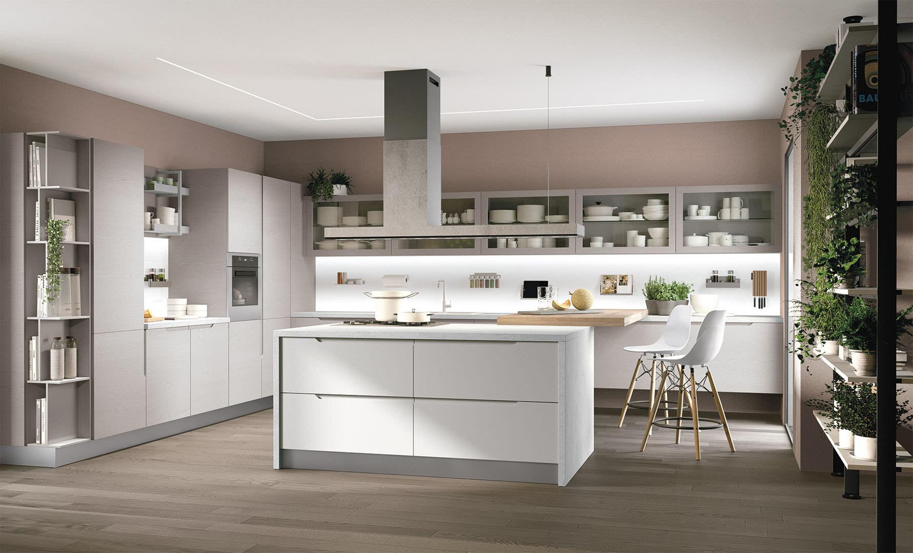 Cucina moderna LUBE LUNA  estrema eleganza e praticit