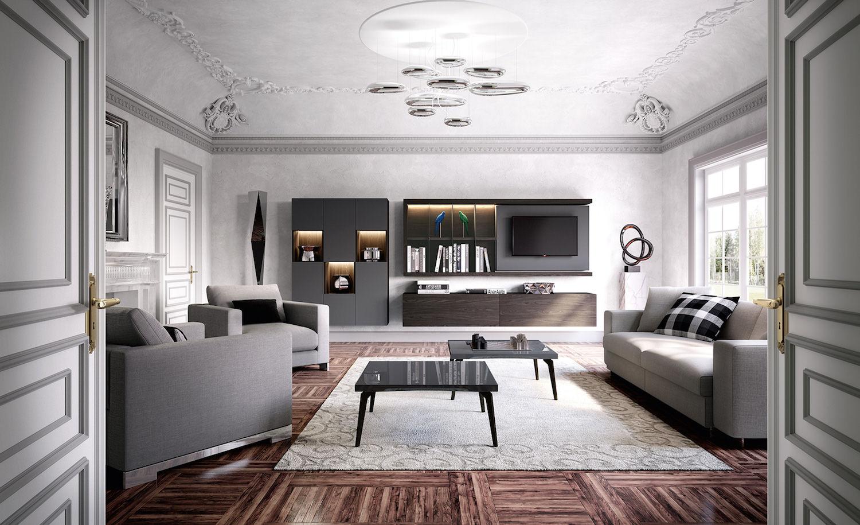 Gamma di mobili per attrezzare tutti gli ambienti della casa, offrendo pezzi per il soggiorno o la sala da pranzo, armadi per la camera da letto o il corridoio,. Soggiorni Moderni Sky 2 0 By Astor Mobili Gusto Pratico Ed Estetico Lasciando Liberta Alle Idee Rafaschieri Arredamenti