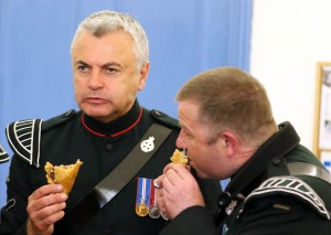 The soldier's maxim - Every minute not spending playing or eating a Cornish Pasty is a minute wasted ! Picture by Chris Cox BOCC20150525A-005_C