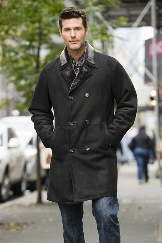 sheepskin shearling coats for men made in New York City