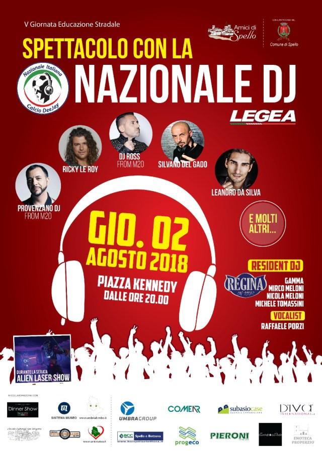 NAZIONALE DJ – SPELLO agosto 2018 – Raffaele Porzi DJ