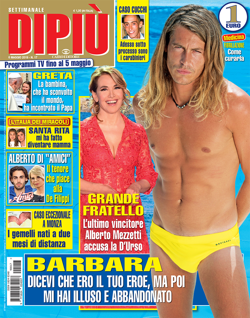 DIPIU' n. 017/2019 – Reality: Alberto Mezzetti accusa Barbara D'Urso
