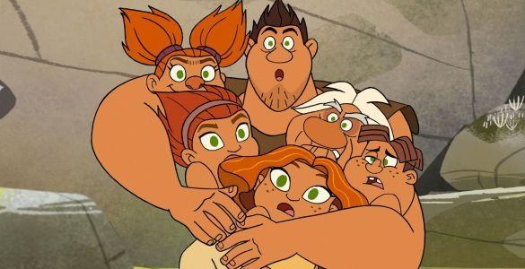Începuturile familiei Crood, DreamWorks, Netflix, seriale de animație, desene animate, cartoons, Dawn of the Croods