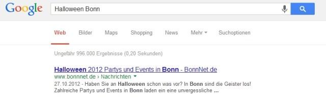 BonnNet.de erneut Platz 1 bei Google - unser Portal für Bonn