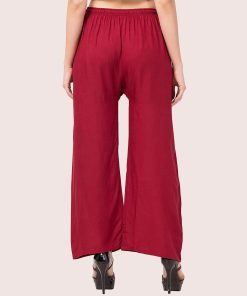 Buy Maroon Rayon Palazzo Pant For Women At Low Price Online