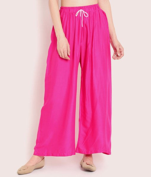 Buy Rani Pink Palazzo For Women At Low Price|63% OFF OFFER At RagaFab