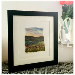 'Homewards' – Yorkshire Dales Felt Art – Original